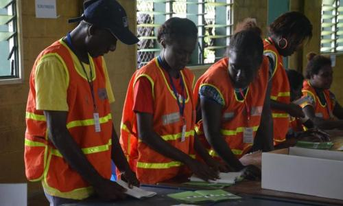Bougainville presidential count done - now for preference eliminations article image