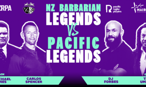 NZ Barbarians v Pacific Legends show image
